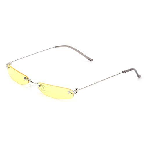 Guoyy Chic Sonnenbrille Vintage-Mode Kleine Linse Frauen Männer Marke Designer Fashion Girl Grush (7)