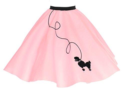 Hip Hop 50s Shop Erwachsene Pudelrock - Pink - Medium/Large (Hausgemachte M&m Kostüm)