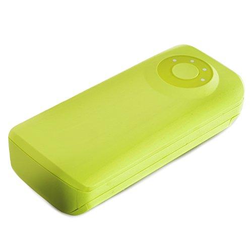 Powerneed–Caricatore portatile con batteria di riserva da 5600mAh, USB 2x da 5 V, connettore a 8pin da 2,1 A per iPhone/iPad–Verde