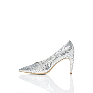 FIND Damen Pumps, Silber (Silver), 38 EU
