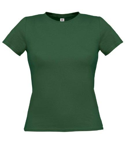 B&C Collection - T-shirt -  Femme Vert - Vert bouteille