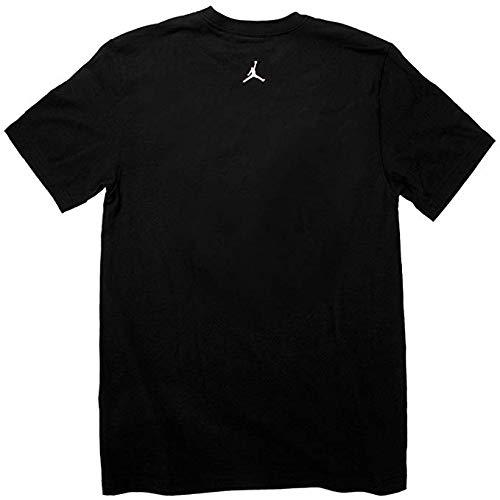 Jordan Retro 10 Herren T-Shirt Schwarz/Grau 645063-010, Herren, schwarz/grau, Medium
