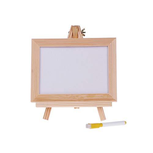eboard Holzrahmen Desktop Staffelei weiß trocken löschen Board Whiteboard Stift Schulmaterial ()