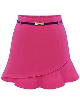 De las mujeres Faldas - Sobre la rodilla Casual / Fiesta Microelástico - Poliéster , s