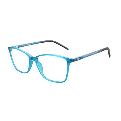 SHINU TR90 Blue Ray Blocking Kurzsichtige Brille Damen Rechteckrahmen-SH087(C4,100)