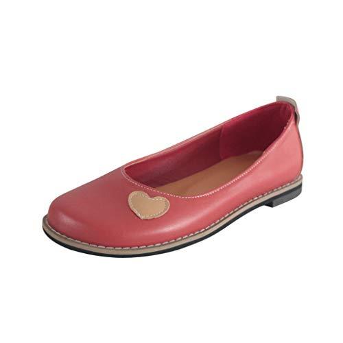 Welle Flach Frauen Schuhe (BURFLY Mode Damen Schuhe, Retro Frauen Leichte rutschfeste Flacher Freizeitschuh Flacher Mund Einzelnen Schuhen Sandals)