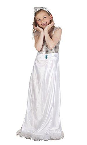 Fancy Ole - Mädchen Girl White Princess Kostüm im Maxikleid , Weiß, Größe 104-116, 4-6 Jahre (Damen Disney Princess Aurora Kostüme)