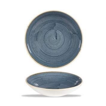 Churchill Stonecast -Coupe Bowl Schüssel- Durchmesser: Ø18,2cm, Farbe wählbar (Blueberry) Blueberry Coupe