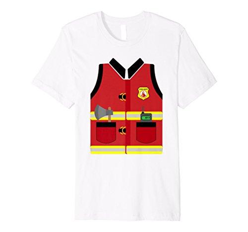 Feuerwehr Uniform Feuerwehrmann Kostüm Shirt   Halloween Geschenk