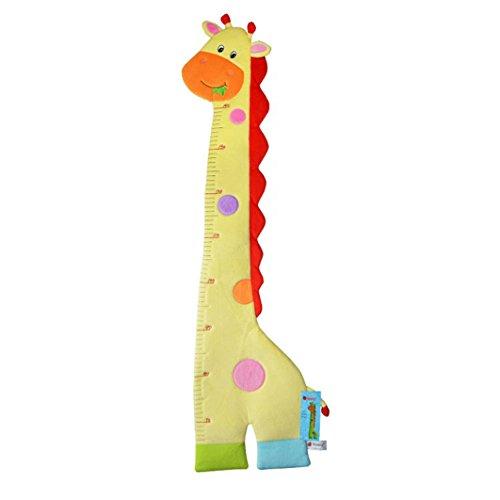 Dearmy Höhe Messung Wachstum Diagramm Baum Niedlich Affe und Eulen Mauer Vinyl Abziehbild Dekor Aufkleber Entfernbar Weich Plüsch Spielzeug zum Kindergarten Spielzimmer Mädchen Jungen Kinder Kinder Schlafzimmer (Giraffe) (Kind Wachstum Diagramm Hängen)