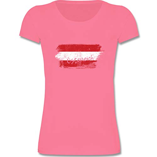 Städte & Länder Kind - Österreich Vintage - 98-104 (3-4 Jahre) - Rosa - F288K - Mädchen T-Shirt