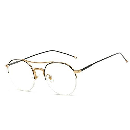 FANGUGF Flache Gläser Brillengestell Vollrand Brillengestell Damen Herren Brillen Mit Optischer Linse Computerbrille