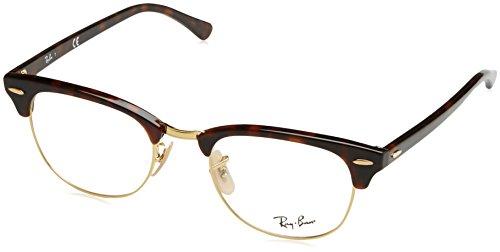 Ray-Ban Unisex-Erwachsene Brillengestell 0rx 5154 2372 51, Rot (Red Havana)