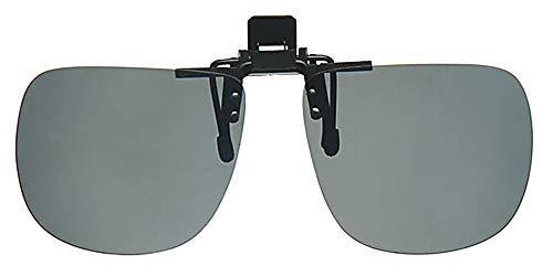 Polarisierte große Sonnenbrille zum Aufstecken, mit Gratis-Halskordel in Gelb, mit entspiegelten Gläsern in Schwarz, CE-zertifiziert