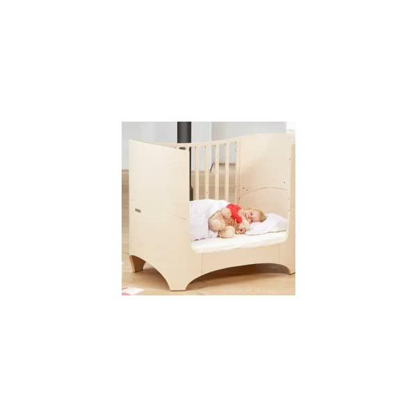 "Leander bed, beech white wash  'White Glaze ""White Wash = with visible wood grain Can be used from babies first day to school age Including all mattress and slatted frame parts 5"