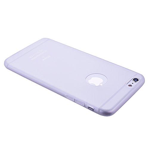 HB-Int 3 in 1 Custodia per Apple iPhone 6 / 6S ( 4.7 pollici ) Nero Gomma TPU Gel Silicone Case Flessibile Morbido Shell Custodia Fashion Design Caso Ultra Sottile Leggera Copertura Anti Graffi Resist Bianco