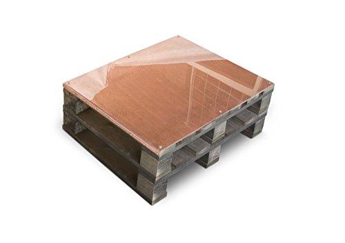 CLC ARREDO Table basse en palette recouvert en cuivre - Structure Noire / Cuivre