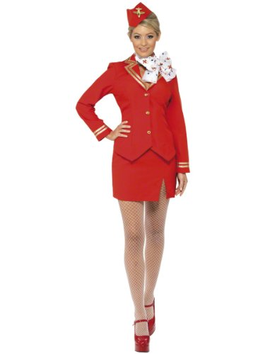 CLUBCORSETS Sexy Stewardess Virgin rot Stewardess Trolley Dolly -