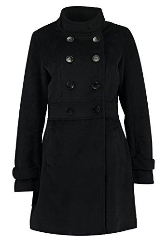 Anna Field Kurzmantel für Damen in Schwarz - Zweireiher Wintermantel kurz, 40 (Mantel Für Frauen, Canada)