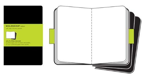 Moleskine QP313 - Pack de 3 cuadernos, pocket 9 x 14, color negro