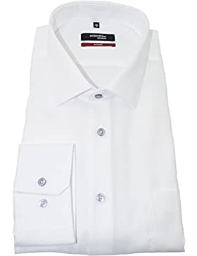 SEIDENSTICKER Modern Hemd Langarm New Kent Kragen Oxford weiß
