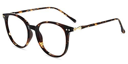 Firmoo Blaulichtfilter Computer Brille ohne Sehstärke für Damen/Herren,Anti Blaulicht UV Schutzbrille, TR Vollrandbrille gegen Augenbelastung Entspiegelte Nerdbrille