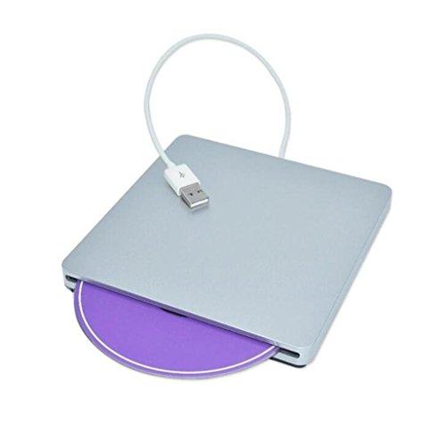 Usb 2.0-puffer (USB 2.0 Externes Laufwerk Ultra Slim Tragbare CD DVD-Laufwerk Brenner Inhalator DVD-Brenner-Laufwerk Für Mac, MacBook Pro Air iMAC, Laptops, Desktops, Notebooks)