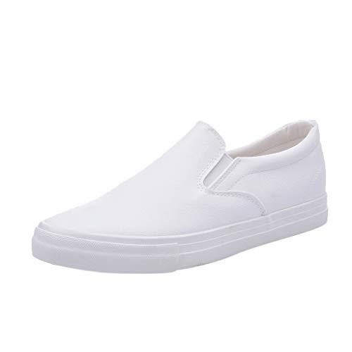 Slip Uomo Moda Su Sneakers Solido Piatto Casuale Mocassini Scarpe Da Barca