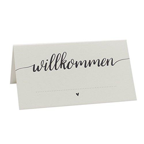 """Platzkarten """"willkommen"""" für Hochzeit, Geburtstag, Taufe und andere Feiern (50 Stück) (Platz-karte)"""