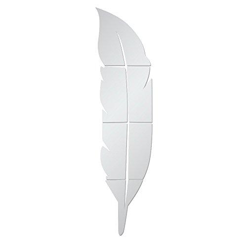 VRTUR- Adhesivos de Pared para Espejo de Plumas extraíbles, Vinilo para decoración del hogar, decoración...