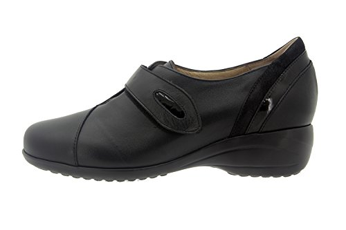 Chaussure femme confort en cuir Piesanto 7976 casual comfortables amples Negro/Charol