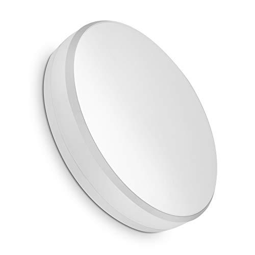 COOLWEST Lámpara de Techo 15W Plafones Blanco Cálido 3000K 1300lm Ø20cm IP44 impermeable 180° LED Iluminación de techo para baño, cocina, dormitorio, pasillo, balcón, sala de estar, comedor