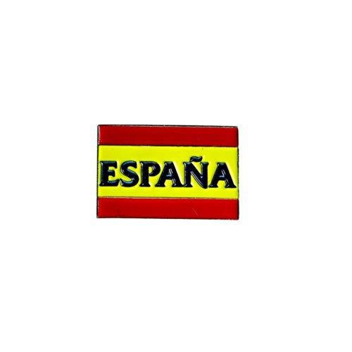 Pin / Anstecker mit Fußballmanschafts-Wappen, offizieller Fußball-Fan-Artikel, verschiedene Mannschaften verfügbar In offizieller Verpackung - Spain FC
