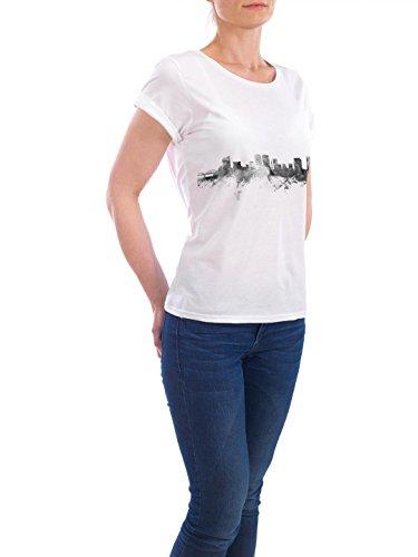 """Design T-Shirt Frauen Earth Positive """"Fort Worth Texas"""" - stylisches Shirt Städte Reise Architektur von Michael Tompsett Weiß"""