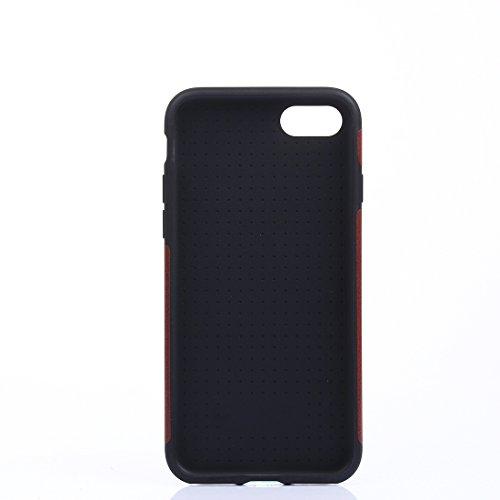 Hülle für iPhone 7 plus , Schutzhülle Für iPhone 7 Plus Crazy Horse Texture Soft PU Schutzmaßnahmen Leder Tasche ,hülle für iPhone 7 plus , case for iphone 7 plus ( Color : Pink ) Brown