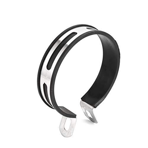 WEIWEITOE Carbon Halter Clamp Fixed Ring Halterung für Motorrad Endschalldämpfer Escape, schwarz, -