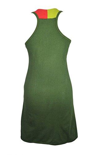 Donna senza maniche GILET LUNGO STRETTO Verde