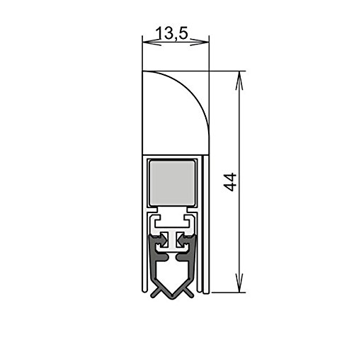 athmer-wind-ex-door-seal-1-sided-735-mm-white