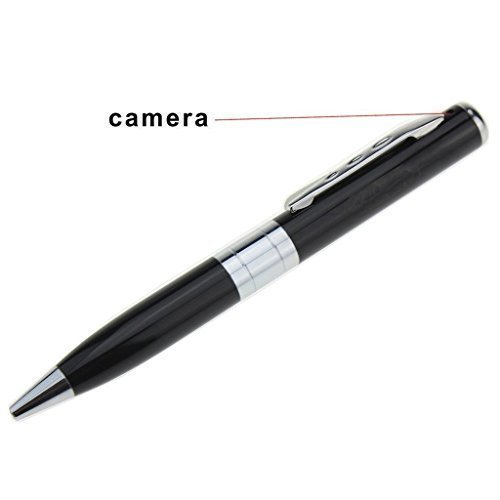 Universal Prime Hidden Camera Spy Pen Recorder DVR Silver REAL HD 720p Best Cam Kit, NO LIGHTS RECORDING, Up to 32GB TF Card (Not Included) With free car non slip anti skid mat