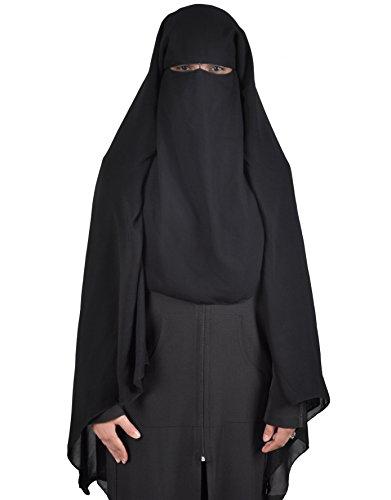 Niqab - Hijab Gesichtsschleier Burka Khimar Islamische Gebetskleidung , schwarz