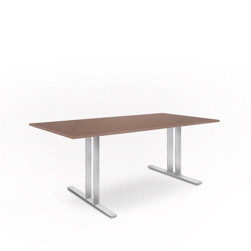 weko Systemmöbel baureihe e AZ-TYP-17D2 Tisch, Holz, edelstahl, 100 x 220 x 75 cm