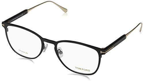 Tom Ford Unisex-Erwachsene Ft5483 Brillengestelle, Schwarz (NERO LUCIDO), 52