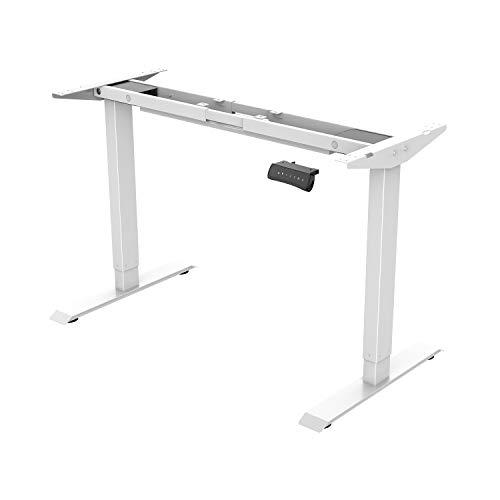 Flexispot E2W Höhenverstellbarer Schreibtisch Elektrisch höhenverstellbares Tischgestell, passt für alle gängigen Tischplatten. Mit Memory-Steuerung und Softstart/-Stop. -