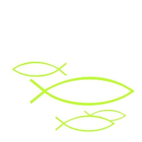 20 Servietten zur Kommunion Taufe Konfirmation Firmung Fische grün 25x25 cm