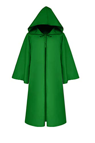 Vosujotis Unisex Kapiert Tarnung Robe Lange Kap Halloween Cosplay Kinder Kostüme Grün L