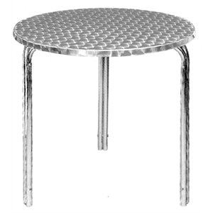 Commercial Round Stackable Bistro Table 600mm - Cafe Bistro Restaurant Hotel Bar Pub Home Indoor Outdoor Outside Garden Metal Aluminium Dining
