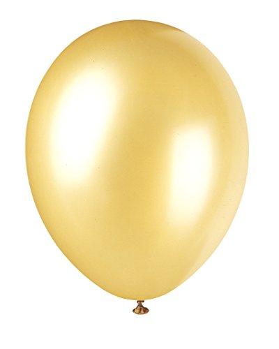 Unique Party - Globo decorativo de látex, 8 unidades, color amarillo (80082)