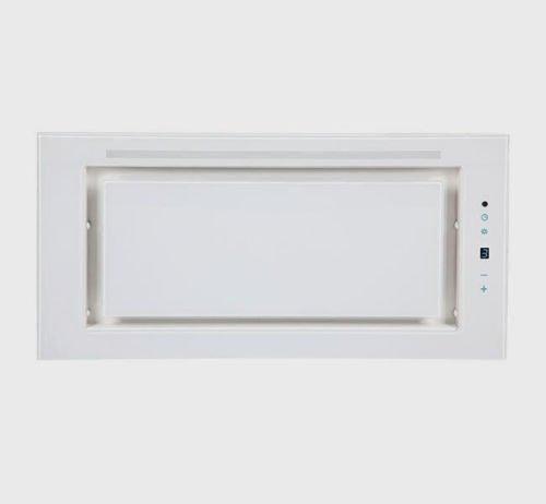 F.BAYER FB-LEO 60GW Dunstabzugshaube/Lüfterbaustein/Glas/27 cm/Turbostufe/Fernbedienung/Weiß