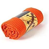 Preisvergleich für FOUGNOGKISSS Fougnogkiss Yoga-Handtuch, leicht, Silikon, Rutschfest, absorbierend, schweißabsorbierend, Yoga-Handtuch, Orange