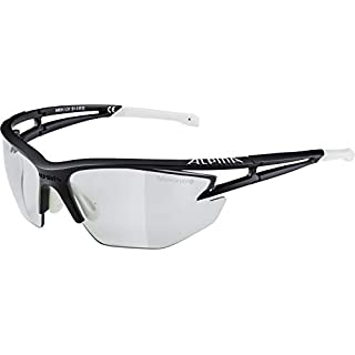 Alpina Sonnenbrille Performance EYE-5 HR VL+ Sportbrille, schwarz matt-White, One Size